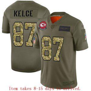 Kansas City Chiefs Travis Kelce Jersey Camo